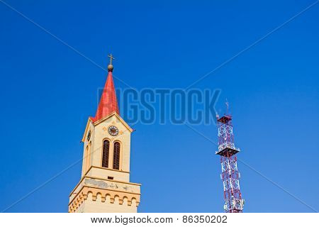 Church And Antenna Tower