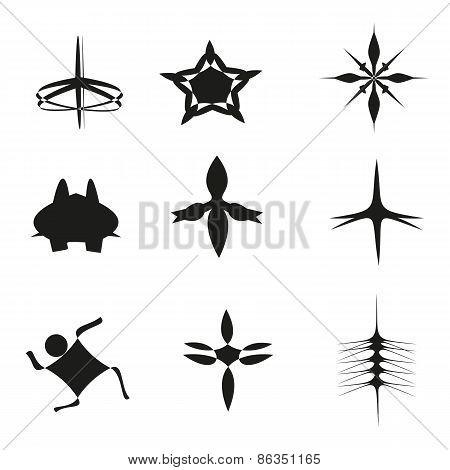 Set of nine symbols