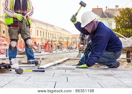 Pavers At Work