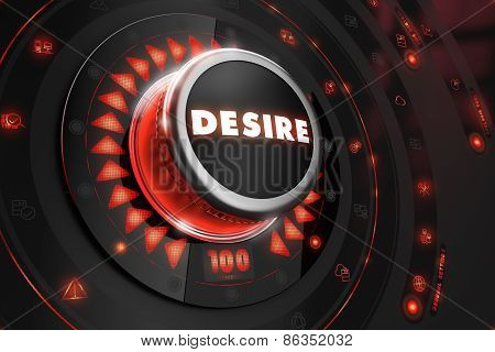 Desire Button with Glowing Red Lights.