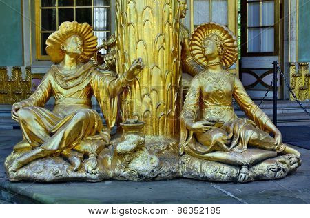 Statues In The Chinese House