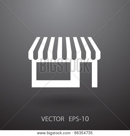 Store icon, vector illustration