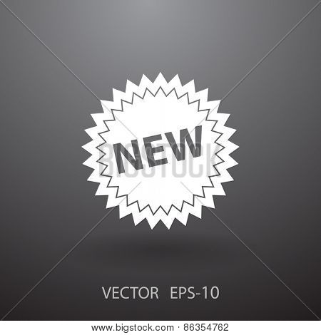 New label icon, vector illustration