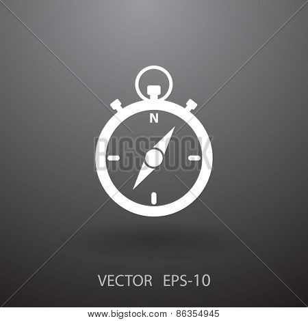 Stopwatch icon, vector illustration