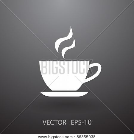 Cup of hot drink icon, vector illustration