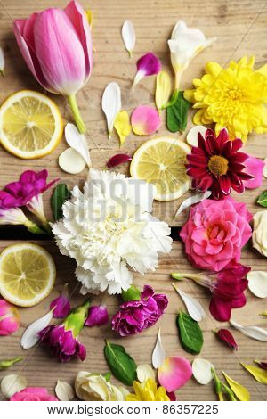 Abstract background with beautiful flowers