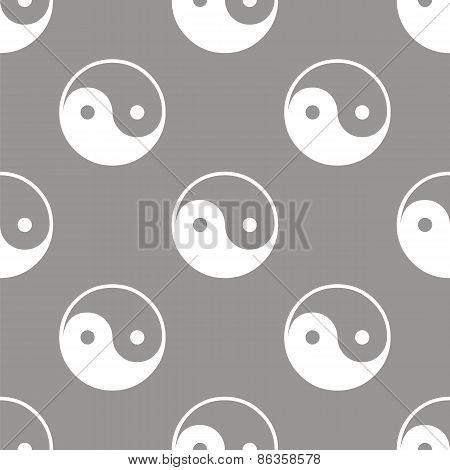 Yin Yang seamless pattern
