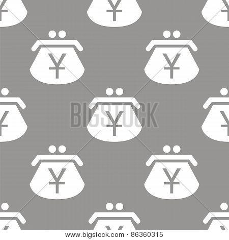 Yen purse seamless pattern
