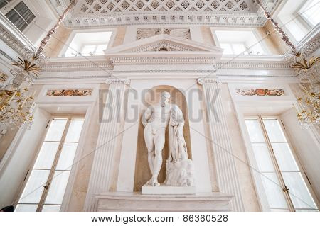 Warsaw, Poland - november 09, 2014:  Palace Lazienki - public Museum in Warsaw. Seat of Polish king - Poniatowski.