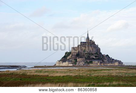 Le Mont Saint Michel In Normandy, France.