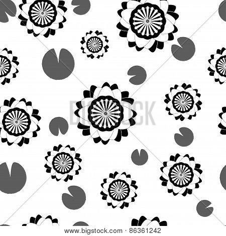 Flower Seamless Pattern Water Lily