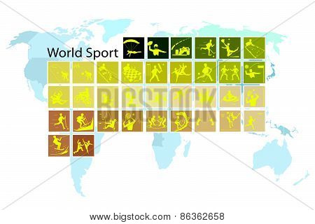 A Mega Set Of 35 World Sport Icons
