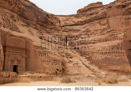 Nabatean Tombs In Madaîn Saleh Archeological Site, Saudi Arabia