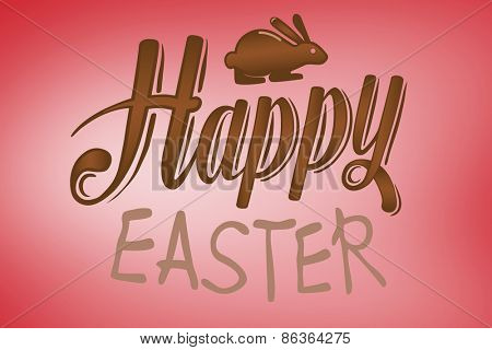 happy easter graphic against red vignette