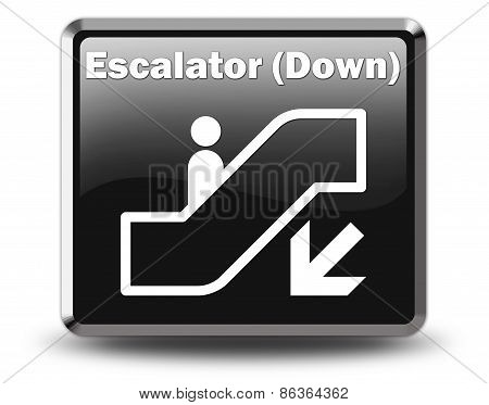 Icon, Button, Pictogram Escalator Down