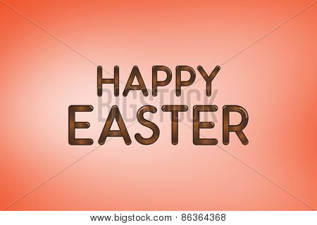 Happy Easter greeting against orange