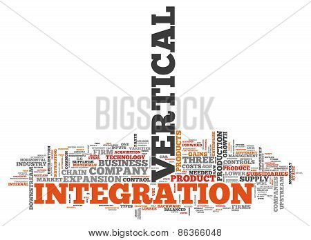 Word Cloud Vertical Integration