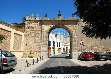 Town entrance arch, Jerez de la Frontera.