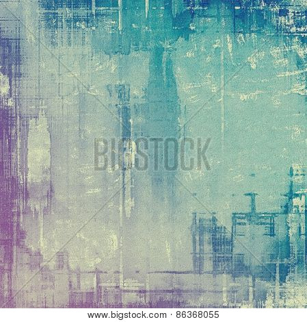 Grunge texture, Vintage background. With different color patterns: purple (violet); cyan; blue