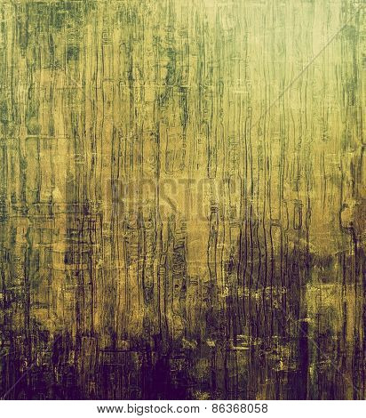 Aging grunge texture designed as abstract old background. With different color patterns: yellow (beige); brown; green; purple (violet)