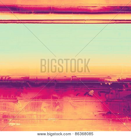 Vintage textured background. With different color patterns: yellow (beige); purple (violet); cyan; pink