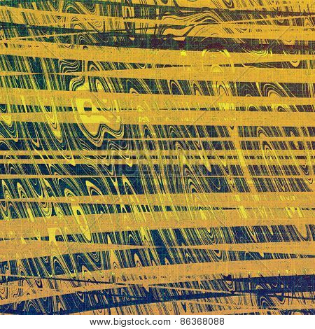 Grunge old-school texture, background for design. With different color patterns: yellow (beige); green; blue
