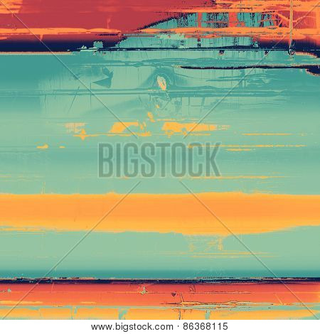 Abstract old background or faded grunge texture. With different color patterns: yellow (beige); cyan; blue