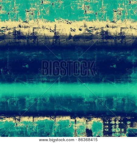 Vintage old texture with space for text or image, distressed grunge background. With different color patterns: yellow (beige); cyan; blue