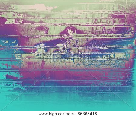 Abstract old background with rough grunge texture. With different color patterns: green; purple (violet); cyan; blue