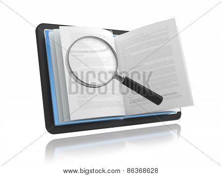 E-book With The Magnifying Glass