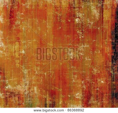 Old-style background, aging texture. With different color patterns: yellow (beige); brown; red (orange)