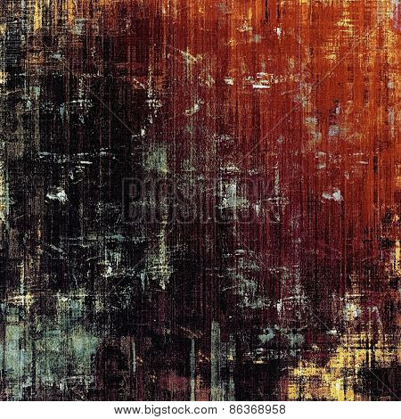 Grunge old-fashioned background with space for text or image. With different color patterns: brown; red (orange); black