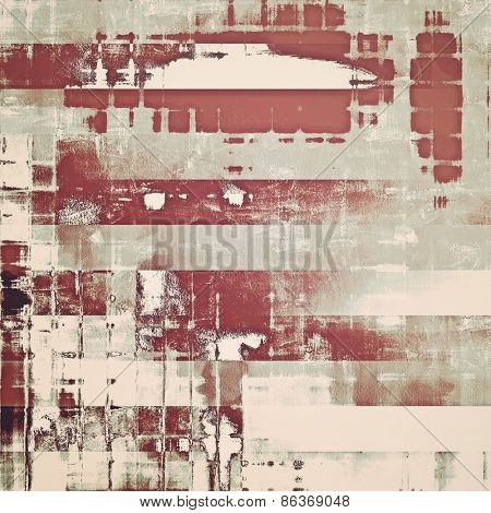 Abstract grunge background with retro design elements and different color patterns: yellow (beige); brown; gray
