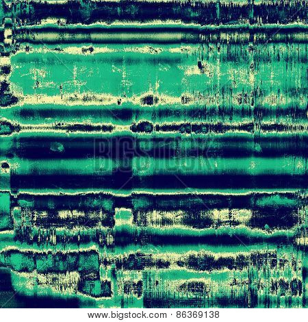 Old texture with delicate abstract pattern as grunge background. With different color patterns: gray; green; blue