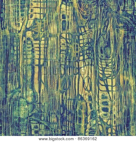 Old ancient texture, may be used as abstract grunge background. With different color patterns: yellow (beige); green; blue