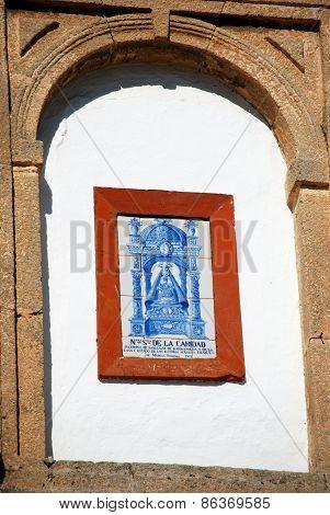 Religious plaque, Sanlucar de Barrameda.