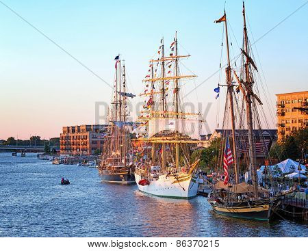 Tall Ships In Bay City Michigan