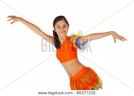 Teenage Girl Dancing