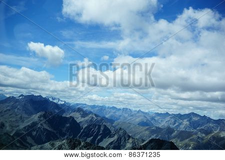 Aerial view Southern Alps.