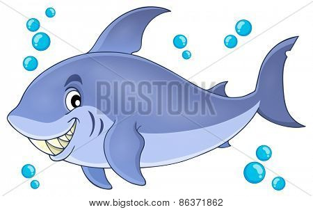 Image with shark theme 5 - eps10 vector illustration.