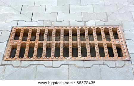 Sewer Grate.