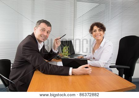 Business People Have A Meeting At Office