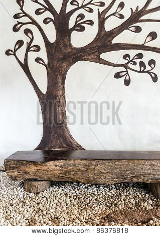 Paint Wall With Brown Tree