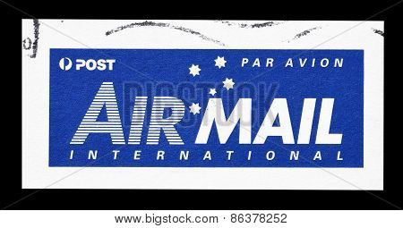 Australian airmail label 2002