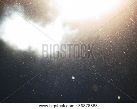 Abstract Background With Floating Dust