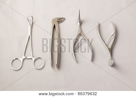 Medical Instruments Isolated On A White Background