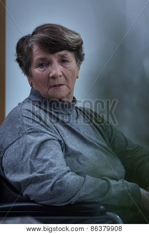Worried Despair Senior Woman