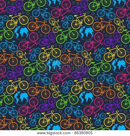 Bicycle and earth pattern
