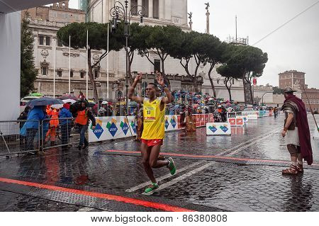 Achame Addis Birhanu at 21th Rome Marathon