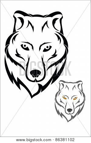 Wolf head symbol